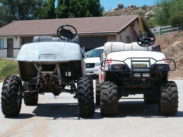 Ez go long travel suspension root engineering s long travel golf cart